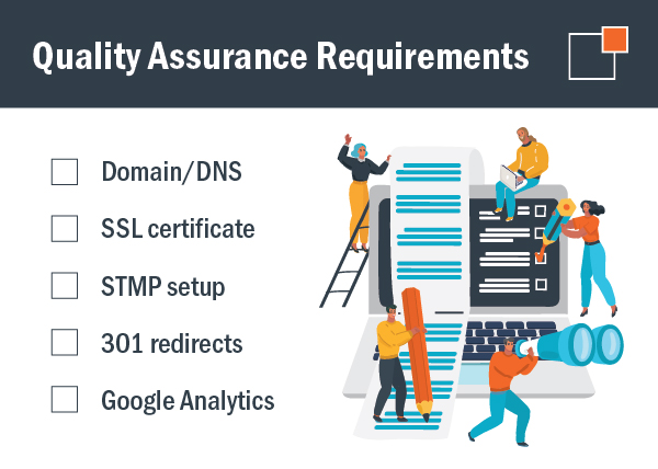 quality assurance requirements for website design